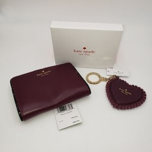 Kate Spade Wallet and Heart Shaped Key Fob